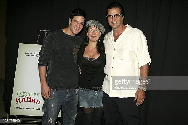 Actor Jay Jablonski Mrs Enos and actor John Enos arrive at the premiere of Everyone Wants to Be Italian at the Egyptian Theatre on October 1 2007 in...