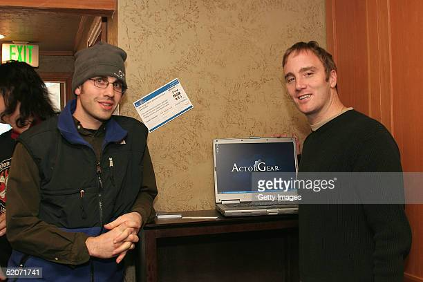 Actor Jay Mohr visits the ActorGearcom display at the Gibson Gift Lounge during the 2005 Sundance Film Festival on January 26 2005 in Park City Utah