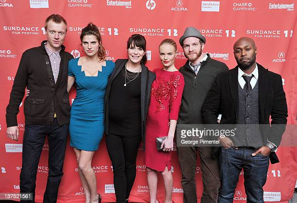 Actor Jay Paulson actress Lake Bell director Katie Aselton actress Kate Bosworth actor Will Bouvier and actor Anslem Richardson arrive at the Black...