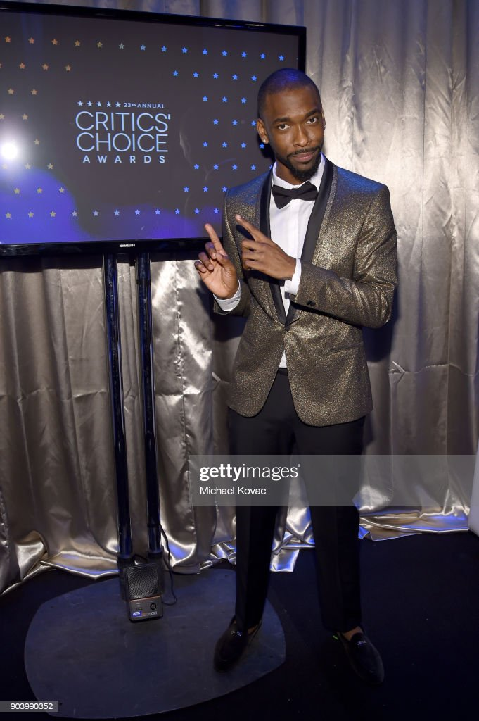 Actor Jay Pharoah attends Moet & Chandon celebrate The 23rd Annual Critics' Choice Awards at Barker Hangar on January 11, 2018 in Santa Monica, California.
