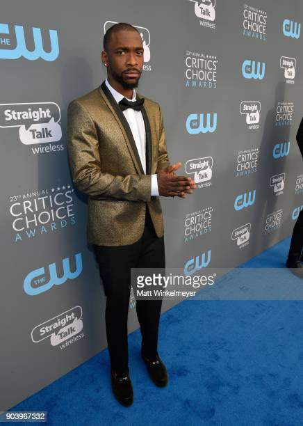 Actor Jay Pharoah attends The 23rd Annual Critics' Choice Awards at Barker Hangar on January 11 2018 in Santa Monica California