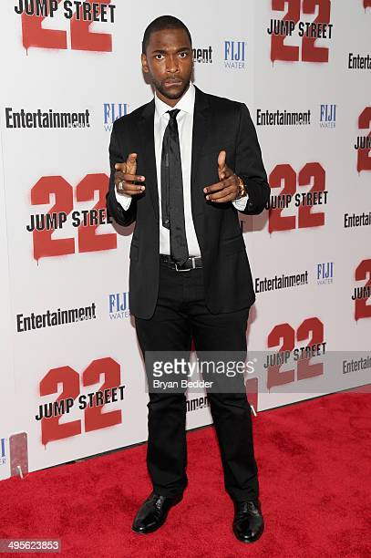 Actor Jay Pharoah attends the New York screening of 22 Jump Street hosted by FIJI Water at AMC Lincoln Square Theater on June 4 2014 in New York City