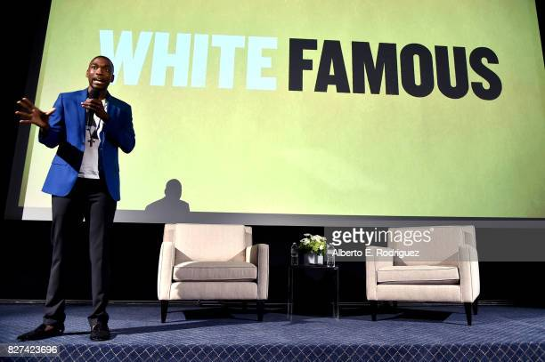 Actor Jay Pharoah of 'White Famous' speaks onstage during the Showtime portion of the 2017 Summer Television Critics Association Press Tour on August...