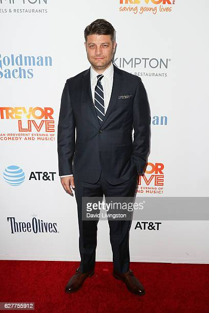 Actor Jay R Ferguson arrives at the TrevorLIVE Los Angeles 2016 Fundraiser at The Beverly Hilton Hotel on December 4 2016 in Beverly Hills California