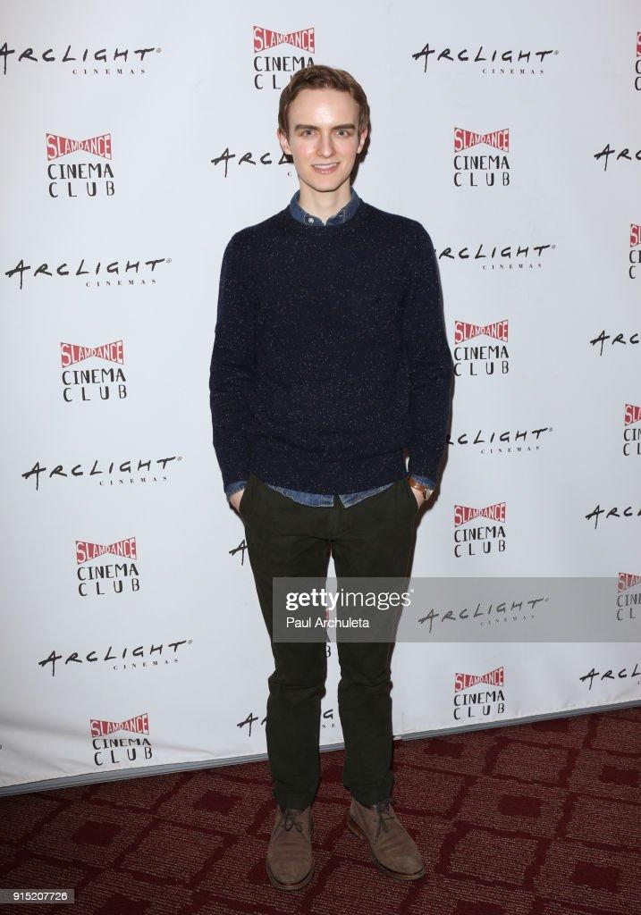 Actor Jay Renshaw attends the Slamdance Cinema Club screening of 'Bernard And Huey' at ArcLight Hollywood on February 6, 2018 in Hollywood, California.