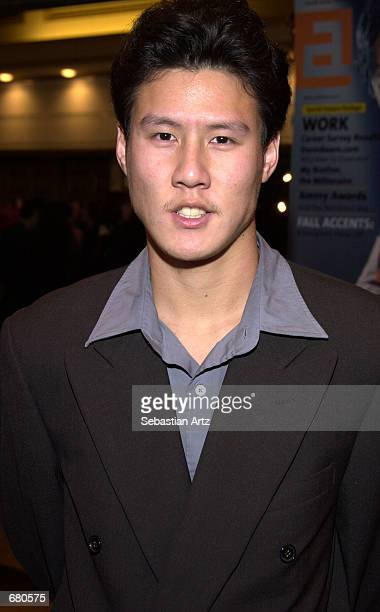 Actor Jay Wang arrives at the Second Annual AMMY Awards For Asian American Entertainment November 10 2001 in Los Angeles CA