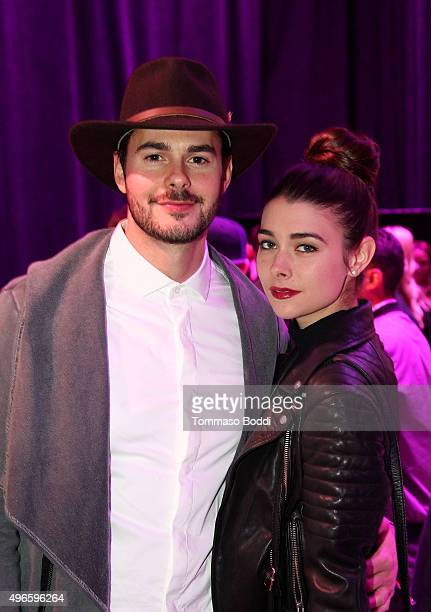 Actor Jayson Blair and Allison Paige attend TMobile Uncarrier X Launch Celebration at The Shrine Auditorium on November 10 2015 in Los Angeles...