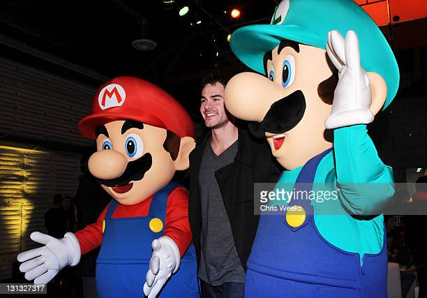Actor Jayson Blair attends Nintendo's celebration of the launch of Super Mario 3D Land at Siren Studios on November 3 2011 in Hollywood California