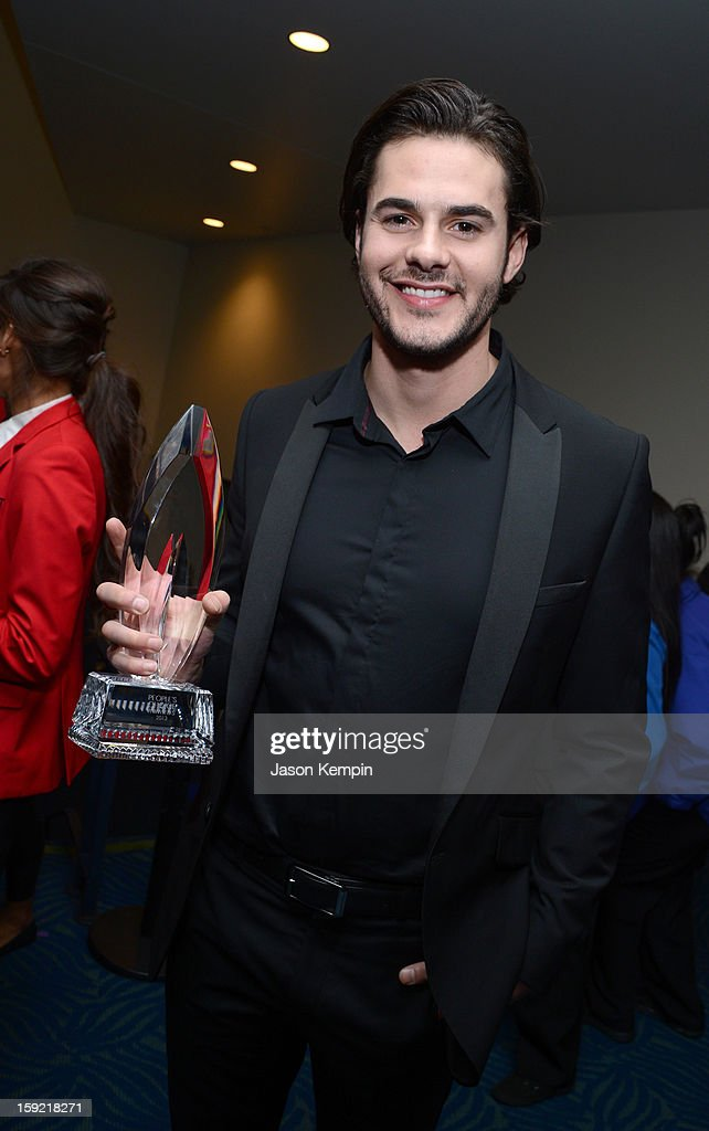 Actor Jayson Blair poses backstage at the 39th Annual People's Choice Awards at Nokia Theatre L.A. Live on January 9, 2013 in Los Angeles, California.