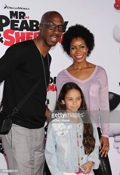 Actor JB Smoove and wife Shahidah Omar arrive at the 'Mr Peabody Sherman' Los Angeles premiere held at the Regency Village Theatre on March 5 2014 in...