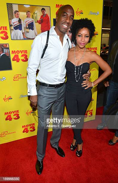 Actor JB Smoove and wife Shahidah Omar attend Relativity Media's Movie 43 Los Angeles Premiere held at the TCL Chinese Theatre on January 23 2013 in...