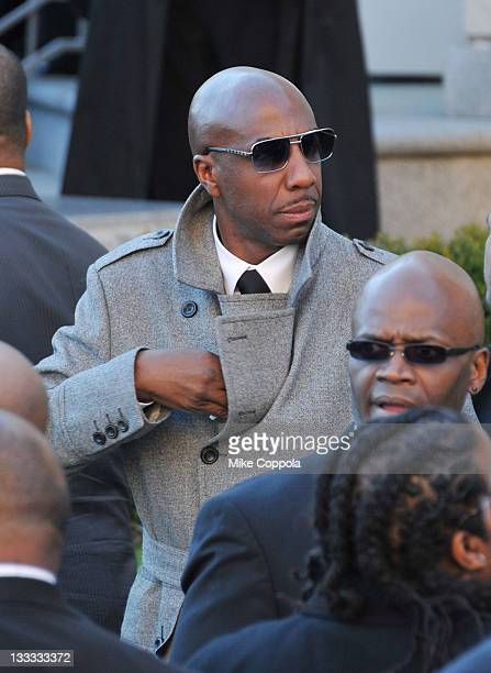 Actor JB Smoove attends the funeral service for Heavy D at Grace Baptist Church on November 18 2011 in Mount Vernon New York