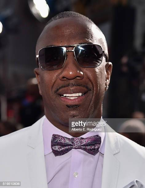 Actor JB Smoove attends the premiere of New Line Cinema's 'Barbershop The Next Cut' at the TCL Chinese Theatre IMAX on April 6 2016 in Hollywood...