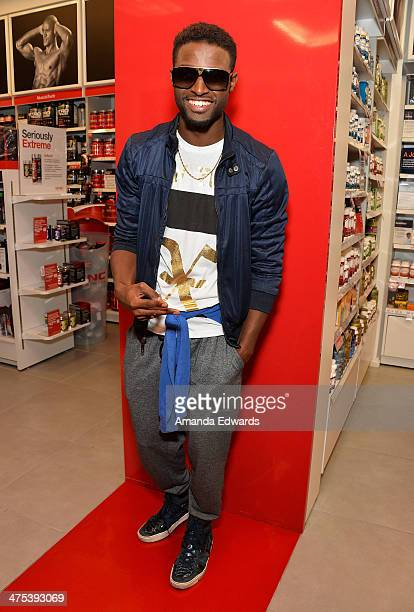 Actor JC Jones appears at GNC Beverly Center to support television personality Adrienne Maloof's promotion of Never Hungover elixir at GNC at The...