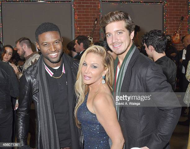 Actor JC Jones Reality star Adrienne Maloof and AnheuserBusch heir Jacob Busch attend A Sparkling Affair Music Industry Charity Event at The Gibson...
