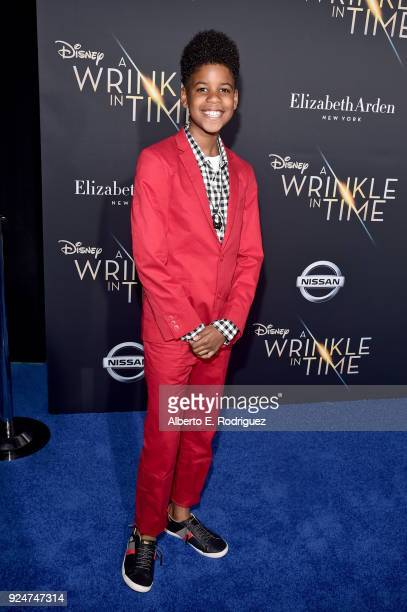Actor JD McCrary arrives at the world premiere of Disney's 'A Wrinkle in Time' at the El Capitan Theatre in Hollywood CA Feburary 26 2018