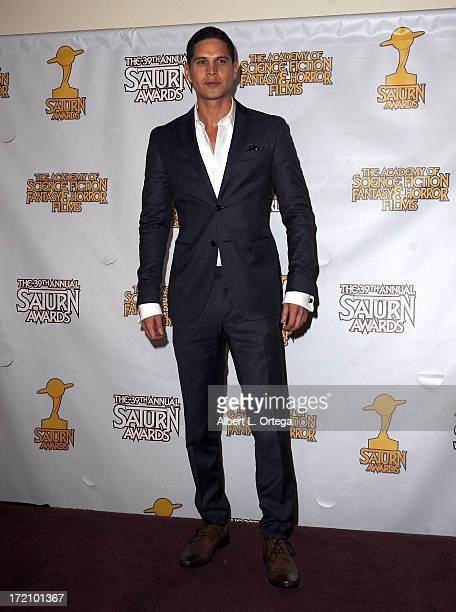 Actor JD Pardo poses at 39th Annual Saturn Awards inside the Press Room at The Castaway on June 26 2013 in Burbank California