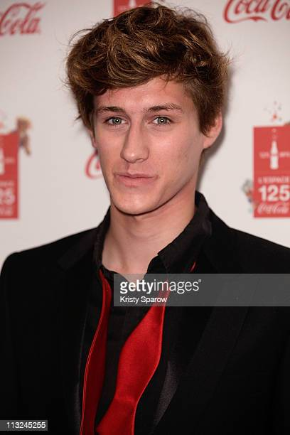 Actor Jean Baptiste Maunier attends the CocaCola 125th Anniversary Celebration on April 27 2011 in Paris France