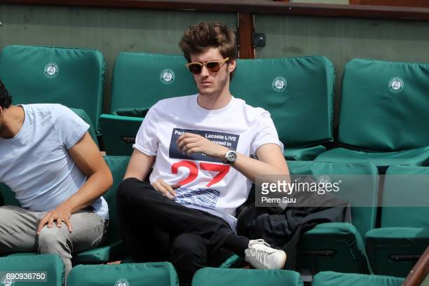 Actor Jean Baptiste Maunier is spotted at Roland Garros on May 31 2017 in Paris France