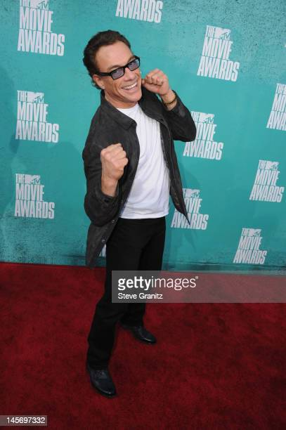 Actor Jean Claude Van Damme arrives at the 2012 MTV Movie Awards at Gibson Amphitheatre on June 3, 2012 in Universal City, California.