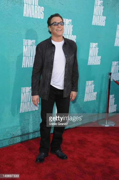 Actor Jean Claude Van Damme arrives at the 2012 MTV Movie Awards at Gibson Amphitheatre on June 3 2012 in Universal City California