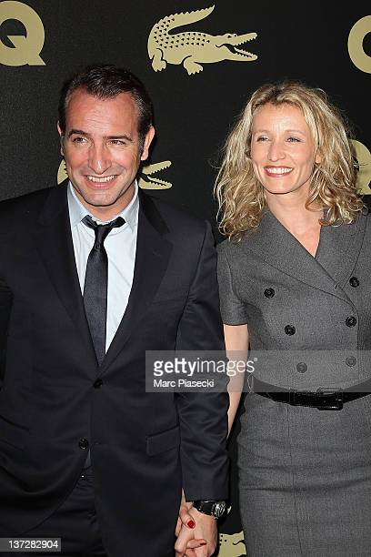 Actor Jean Dujardin and his wife Alexandra Lamy attend the 'GQ Man Of The Year 2011' photocall at Hotel Ritz on January 18, 2012 in Paris, France.