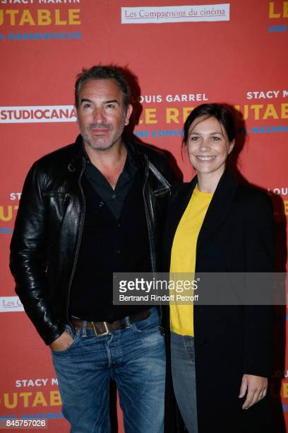 Actor Jean Dujardin and Nathalie Pechalat attend the 'Le Redoutable' Paris Premiere at Cinema du Pantheon on September 11 2017 in Paris France