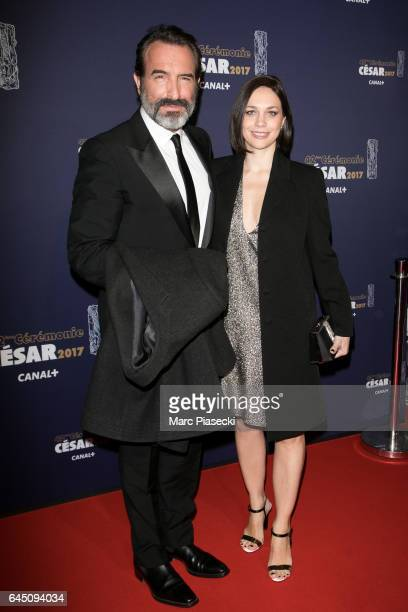 Actor Jean Dujardin and Nathalie Pechalat attend the the Cesar Film Awards 2017 ceremony at Salle Pleyel on February 24, 2017 in Paris, France.