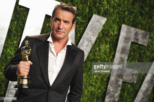 Actor Jean Dujardin arrives at the 2012 Vanity Fair Oscar Party hosted by Graydon Carter at Sunset Tower on February 26 2012 in West Hollywood...