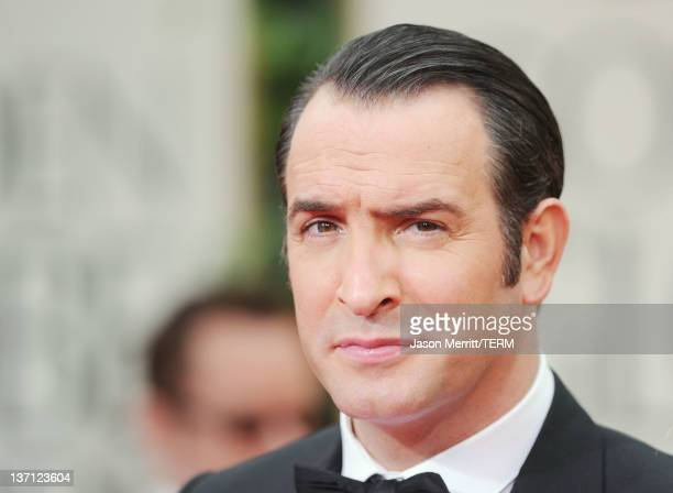 Actor Jean Dujardin arrives at the 69th Annual Golden Globe Awards held at the Beverly Hilton Hotel on January 15 2012 in Beverly Hills California