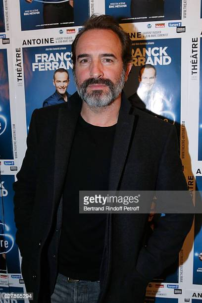 Actor Jean Dujardin attends Franck Ferrand performs in his Show 'Histoires' at Theatre Antoine on December 5 2016 in Paris France