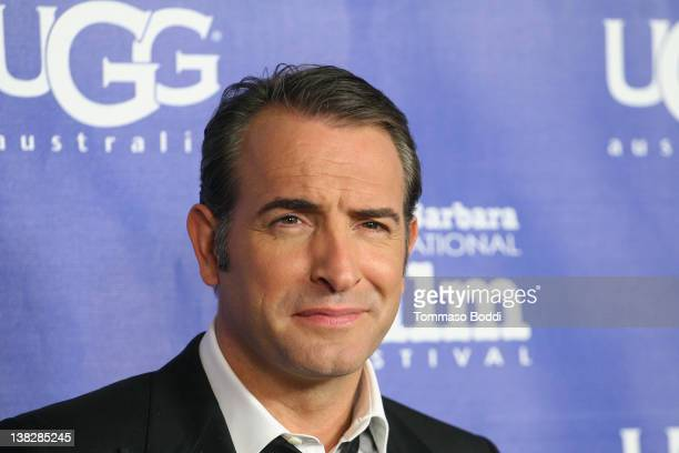 Actor Jean Dujardin attends the 27th Annual Santa Barbara International Film Festival held at the Arlington Theatre on February 4 2012 in Santa...