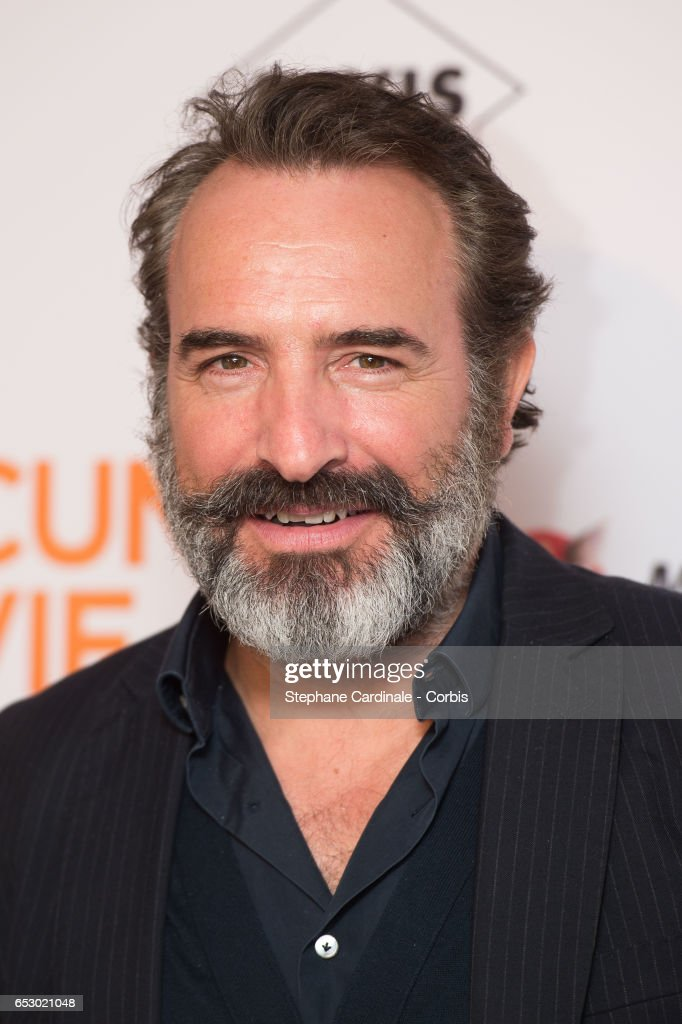 Actor Jean Dujardin attends the 'Chacun Sa vie' Paris Premiere at Cinema UGC Normandie on March 13, 2017 in Paris, France.