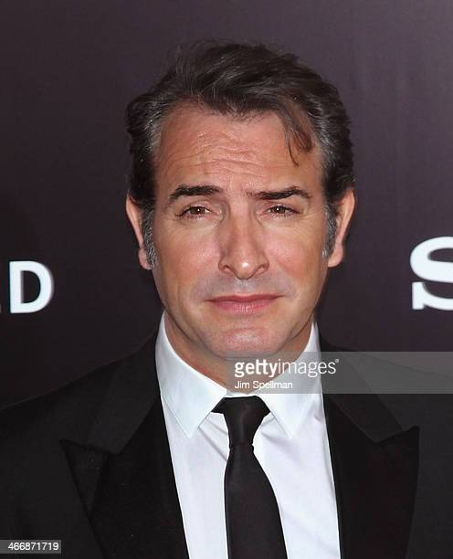 Actor Jean Dujardin attends The Monuments Men premiere at Ziegfeld Theater on February 4 2014 in New York City