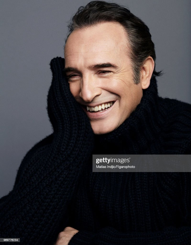 Actor Jean Dujardin is photographed for Madame Figaro on December 5, 2017 in Paris, France. Sweater by Hermes. PUBLISHED IMAGE.