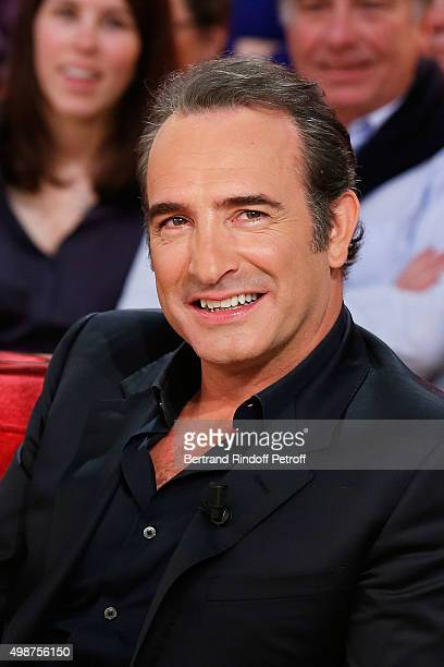 Actor Jean Dujardin presents New Moovie of Claude Lelouch 'Un Une' during 'Vivement Dimanche' TV Show at Pavillon Gabriel on November 25 2015 in...
