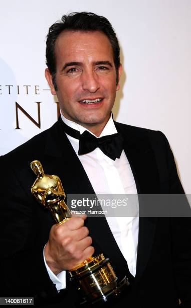 Actor Jean Dujardin winner of the Best Actor Award for 'The Artist'arrives at The Weinstein Company's 84th Annual Academy Awards After Party at...