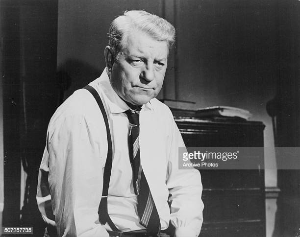 Actor Jean Gabin in a scene from the movie 'Inspector Maigret', 1958.