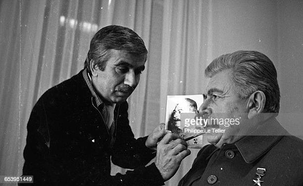 Actor Jean Martinelli plays Stalin in the French TV film 'Staline est mort' France 11/1980