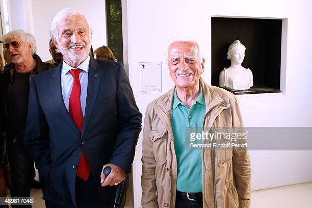 Actor Jean Paul Belmondo and his brother Alain Belmondo attend Museum Paul Belmondo celebrates its 5th Anniversary on April 13 2015 in...