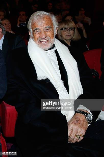 Actor Jean Paul Belmondo attends the Private Screening of the Movie 'Tout Peut Arriver' at Mac Mahon Cinema on February 3 2015 in Paris France This...