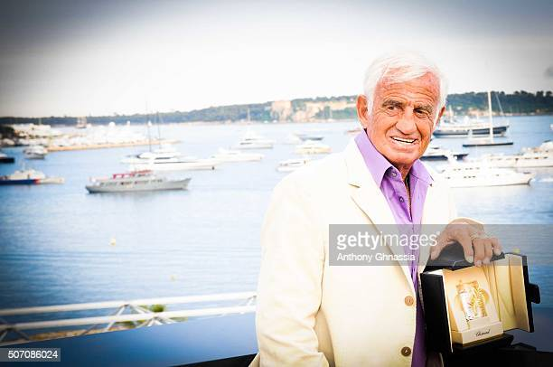 Actor Jean Paul Belmondo is photographed for Self Assignment on May 18 2011 in Cannes France