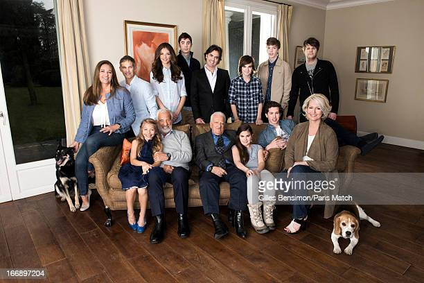 Actor Jean Paul Belmondo on the occasion of his 80th birthday is photographed with his family Seated on the sofa daughter Stella daughter of his...