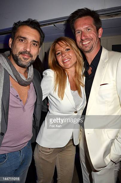 Actor Jean Pierre Martins his Wife Alexandra Genoves and Sam Bobino attend the Paris Premiere Party at the Chivas House Terrace 65th Annual Cannes...