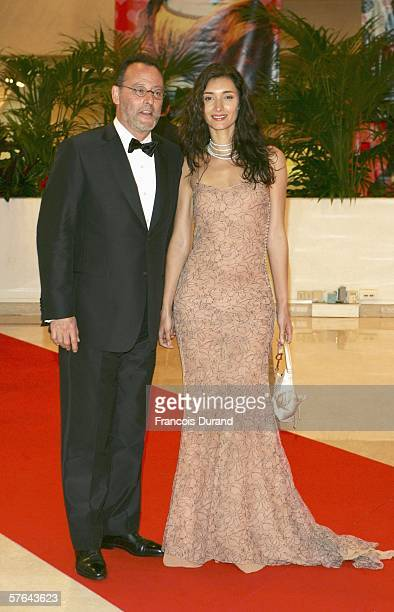 Actor Jean Reno and actress Zofia Borucka attend the Opening Ceremony dinner at the Palais during the 59th International Cannes Film Festival May 17...