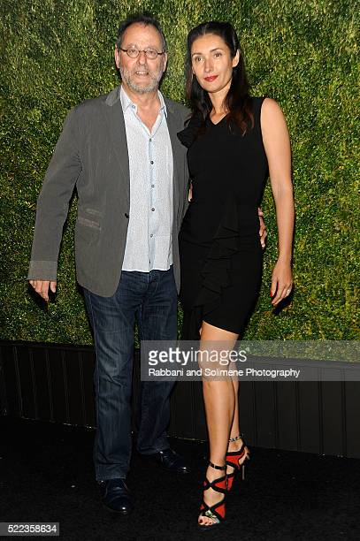 Actor Jean Reno and model Zofia Borucka attend 11th Annual Chanel Tribeca Film Festival Artists Dinner at Balthazar on April 18 2016 in New York City