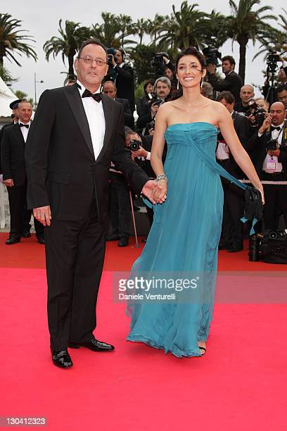 Actor Jean Reno and wife actress Zofia Borucka arrives at the Palme d'Or Closing Ceremony at the Palais des Festivals during the 61st International...