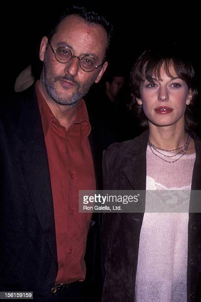 Actor Jean Reno and wife Nathalie Dyszkiewicz attend the premiere of 'The Professional' on November 3, 1994 at the Academy Theater in Beverly Hills,...