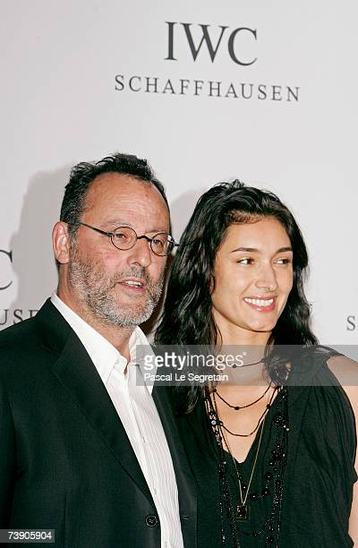 Actor Jean Reno and wife Zofia Borucka arrive to attend the IWC Da Vinci Launch party held at the Geneva Palaexpo on April 17 2007 in Geneva...