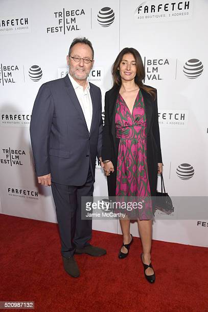 Actor Jean Reno and Zofia Borucka at The First Monday In May World Premiere 2016 Tribeca Film Festival Opening Night at John Zuccotti Theater at BMCC...